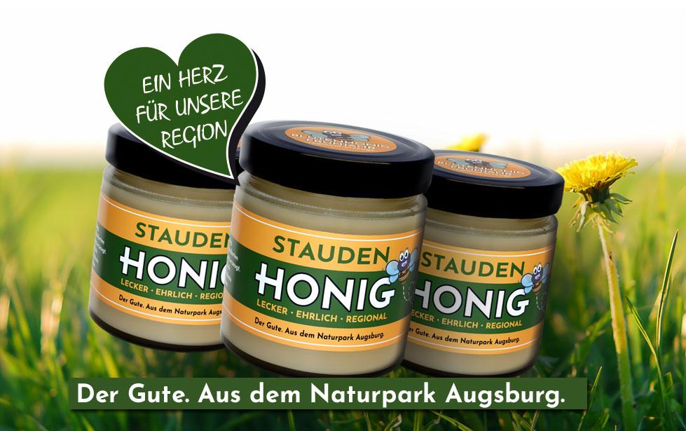Staudenhonig - regional erzeugt in den Stauden - Naturpark Augsburg Westliche Wälder